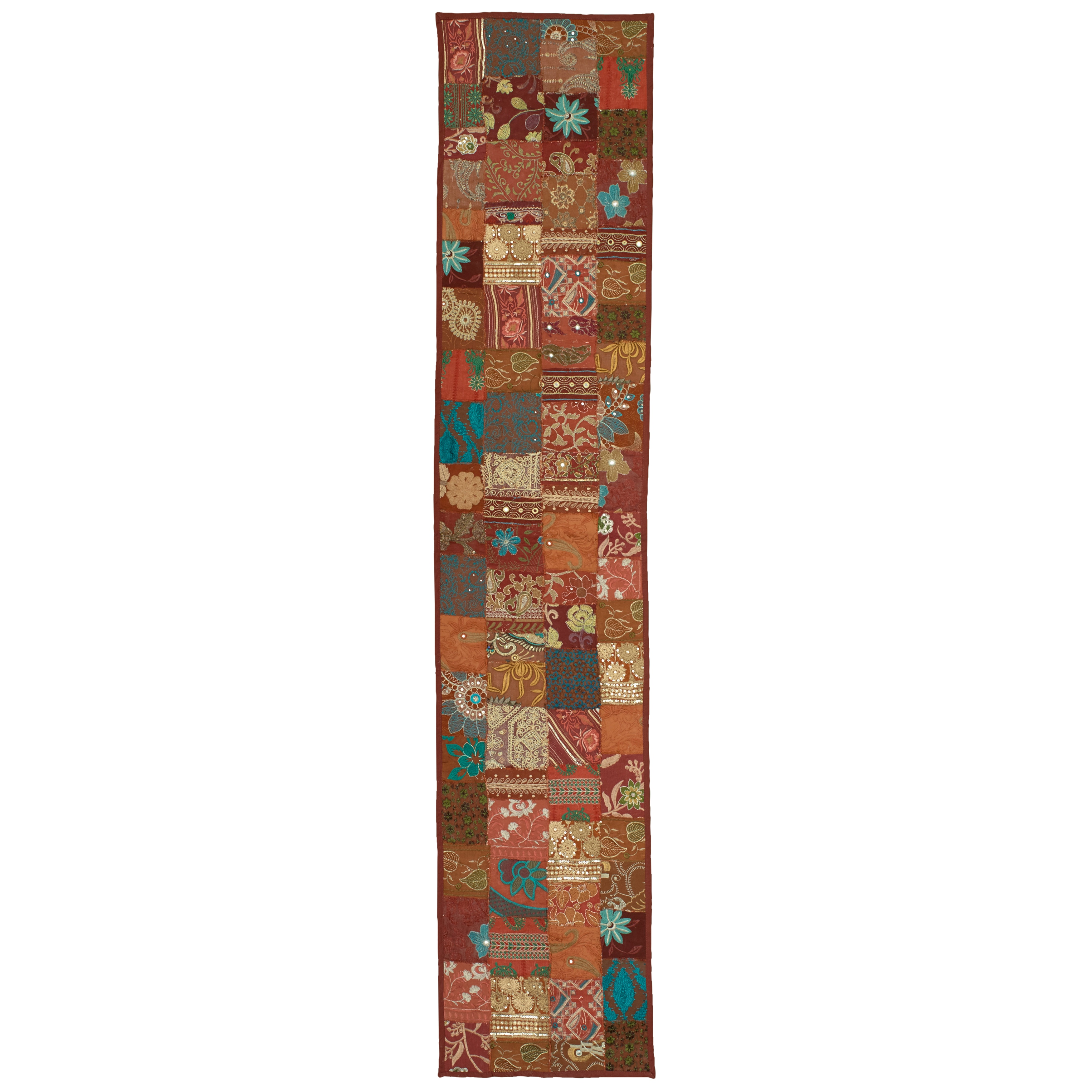 LR Resources Timbuktu Hand Crafted Maroon (Red) Cotton an...