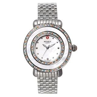Michele Women's MWW20E000014 'Cloette' Colored Topaz Stones Stainless Steel Watch