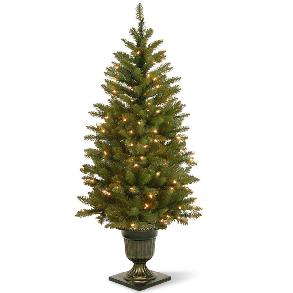 4 artificial christmas porch tree for indooroutdoor use free shipping today overstockcom 17702693 - Porch Christmas Tree