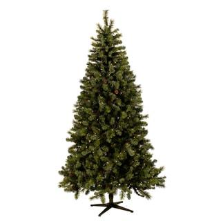 7.5-foot Pre-lit Slim Inverness Pine Tree