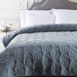 Allman Solid Medallion Cotton Quilt