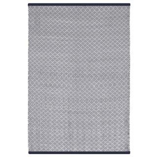 Indo Hand-woven Karma Checkered Brown and Almond Flatweave Area Rug (6' x 9')