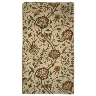 Indo Hand-woven Sherwood Floral Flatweave Area Rug (3' x 5')