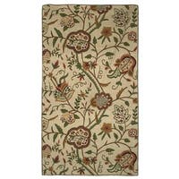 Indo Hand-woven Sherwood Floral Flatweave Area Rug (4' x 6') - 4' x 6'