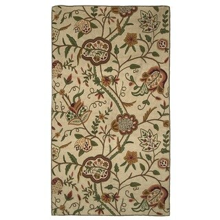 Indo Hand-woven Sherwood Floral Flatweave Area Rug (4' x 6')