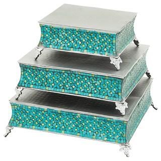 Casa Cortes Mosaic 3-Piece Cake Stand