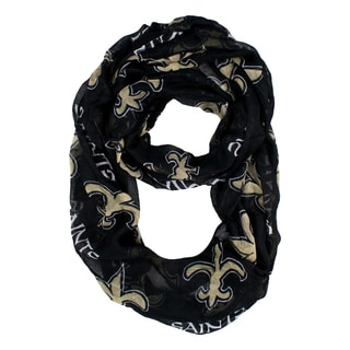 Link to New Orleans Saints NFL Sheer Infinity Scarf Similar Items in Fan Shop