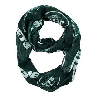 New York Jets NFL Sheer Infinity Scarf