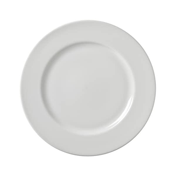 10 Strawberry Street Z-Ware White Porcelain Dinner Plate Set of 6