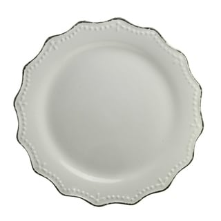 "Oxford Cream Dinner Plate 11"" Set of 6"