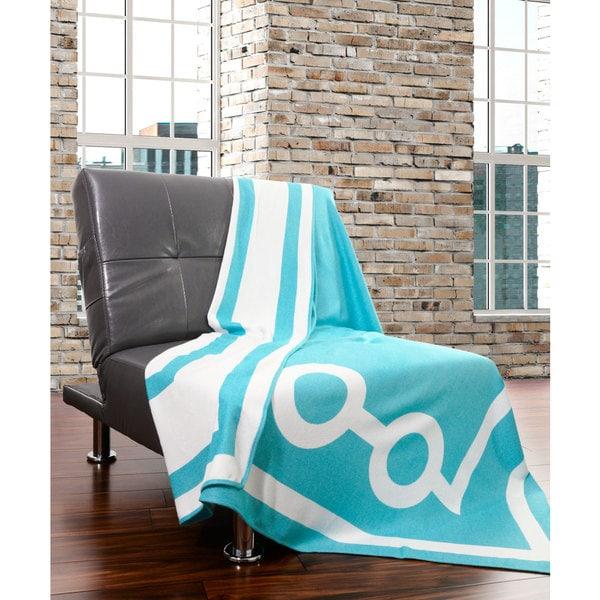 Dann Foley Tea House Collection Geometric Rayon From Bamboo Throw Blanket