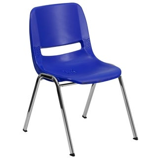 Hercules Series 440-pound Capacity Ergonomic Shell Stack Chair Withframe and 14-inch Seat Height