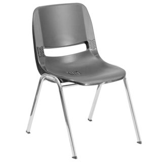 Hercules Series 440-pound Capacity Ergonomic Shell Stack Chair Withframe and 12-inch Seat Height