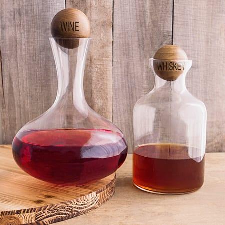 Wine & Whiskey Decanter Set