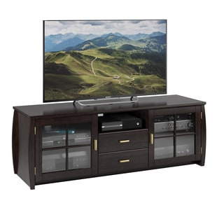 Sonax TWB-106-B Washington Mocha Black Wood Veneer TV Bench