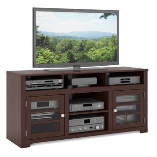CorLiving West Lake TV Bench in Dark Espresso, for TVs up to 68""