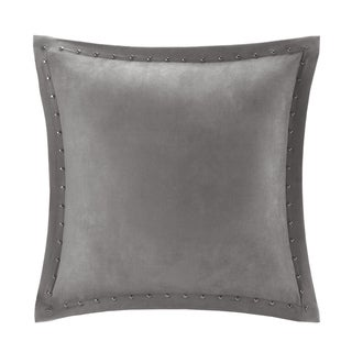 Copper Grove PersicaFeather Down Filled Microsuede Square Pillow (20x20) (Grey)