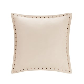 Copper Grove PersicaFeather Down Filled Microsuede Square Pillow (20x20) (Tan)