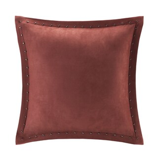 Copper Grove PersicaFeather Down Filled Microsuede Square Pillow (20x20) (Spice)