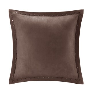 Copper Grove PersicaFeather Down Filled Microsuede Square Pillow (20x20) (Brown)