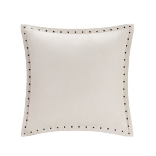 Copper Grove PersicaFeather Down Filled Microsuede Square Pillow (20x20) (Ivory)