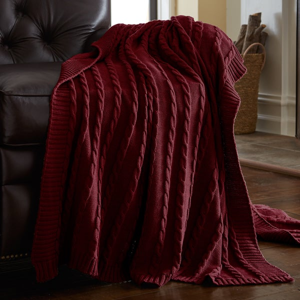 Amraupur Overseas 100-percent Cotton Oversized Sweater Knit Throw