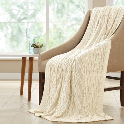 Modern Threads Oversized Cable-knit Cotton Throw Blanket (50 x 70)