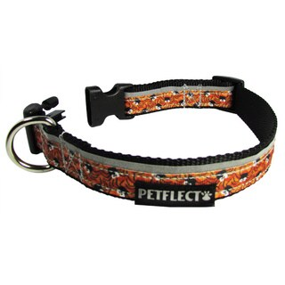 Petflect Halloween Spiders Reflective Dog Collar