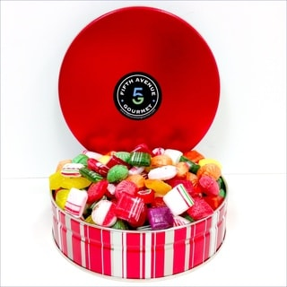 Fifth Avenue 2Lb Old Fashion Candy in a Holiday Tin