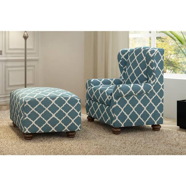 Incredible Shop Handy Living Hana Navy Blue Trellis Wingback Chair And Cjindustries Chair Design For Home Cjindustriesco