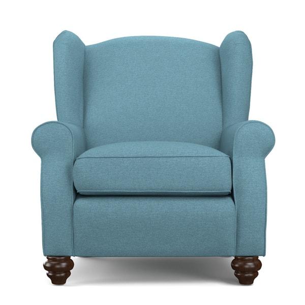 Pleasing Shop Handy Living Hana Caribbean Blue Linen Wingback Chair Cjindustries Chair Design For Home Cjindustriesco