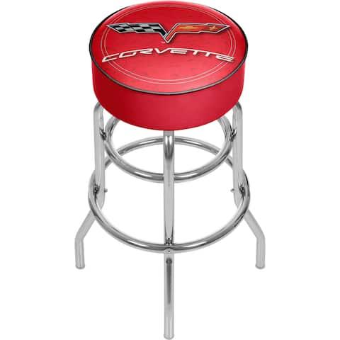 Corvette C6 Red Padded Bar Stool