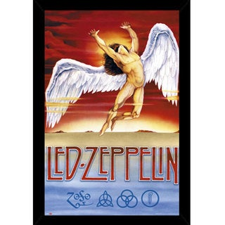Led Zeppelin Swansong Print with Contemporary Poster Frame (2' x 3')