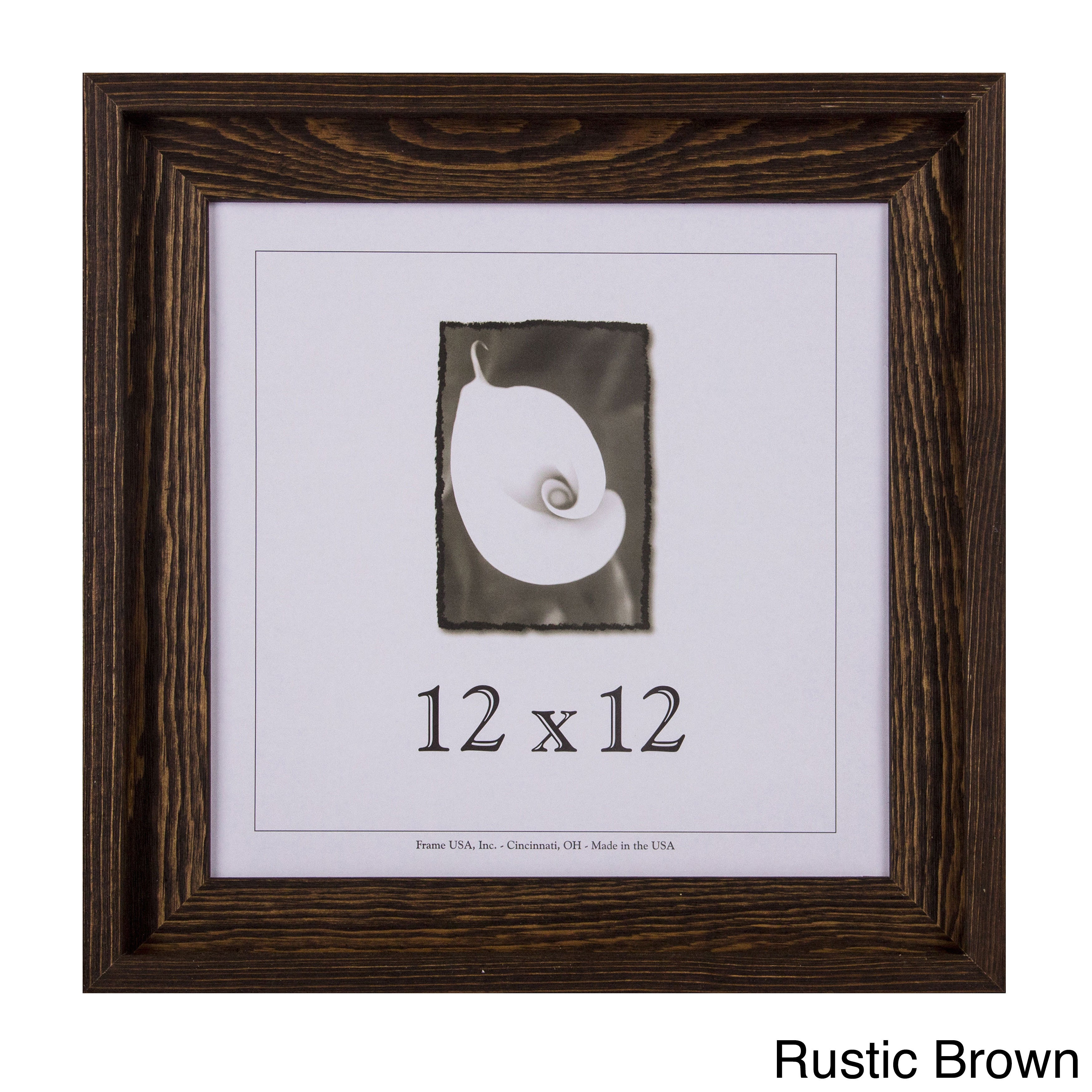 12x12 Picture Frames Barnwood Frames Appalachian Series Rustic Brown ...