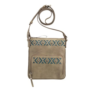 American West 4152493 Tan Leather Moon Dancer Crossbody Bag