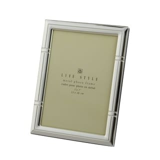 Elegance Silver Plated Reed Life Style Metal Photo Frame, 5 X 7""