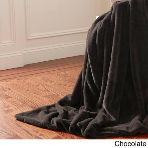 Aurora Home Throw-Luxe Faux Fur Throw Blanket