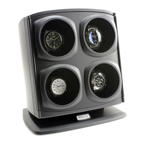 Versa Automatic Quad Watch Winder Black