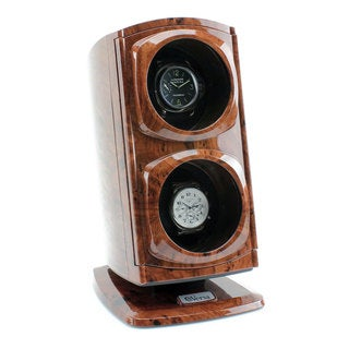 Versa Automatic Double Watch Winder Burlwood