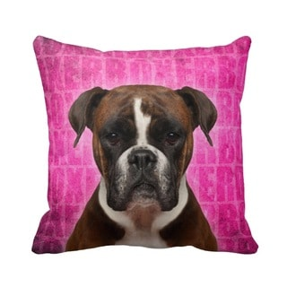 Boxer Grunge 16-inch Throw Pillow