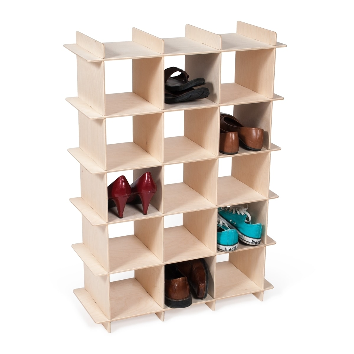 Sprout Ease Modern Wood Shoe Storage Cubby (Unfinished Ba...