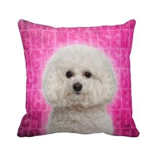 Bichon Frise Grunge 16-inch Throw Pillow