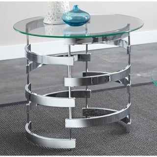 Link to Silver Orchid Bardeen Round End Table Similar Items in Living Room Furniture