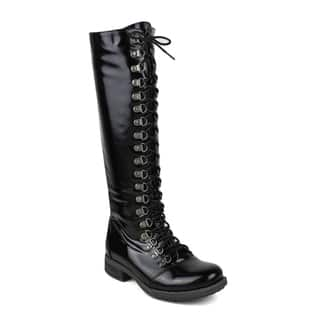 Mark and Maddux Women's Kevin-04 Side-Zipper Knee High Combat Boot|https://ak1.ostkcdn.com/images/products/10634790/P17703304.jpg?impolicy=medium