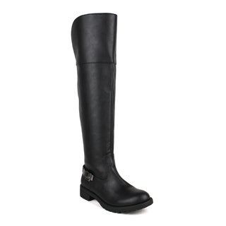 Mark and Maddux Women's Travis-21 Optional Foldover Cuff Knee High Boots
