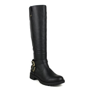 Mark and Maddux Women's Travis-02 Moto Knee High Boots