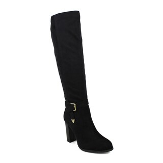 Fahrenheit women's Jacob-02 Knott Side Buckle Women's Knee-high High Heel Boots