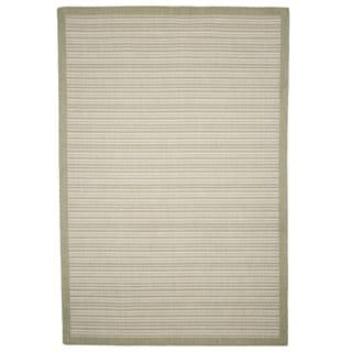 """Windsor Home Casual Stripe Indoor/Outdoor Area Rug - Green - 5'x7'7"""""""