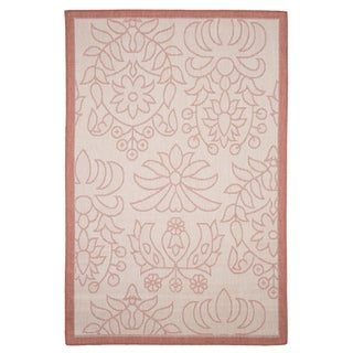 Windsor Home Botanical Garden Indoor/Outdoor Area Rug - Orange- 5'x7'7""