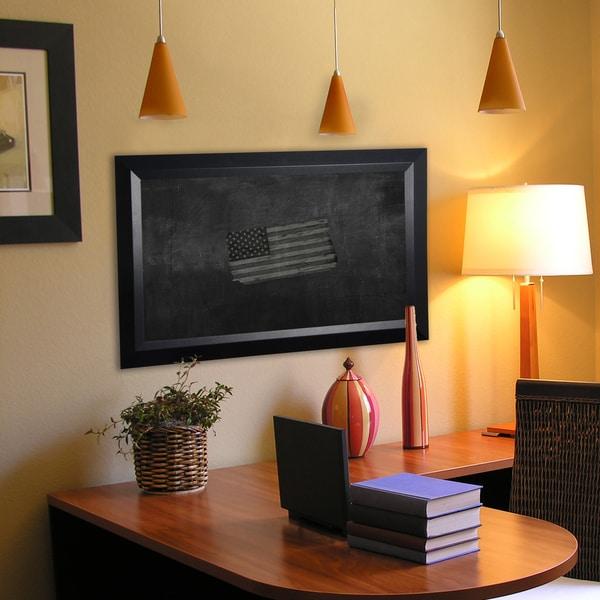 American Made Rayne Solid Black Angle Blackboard/Chalkboard